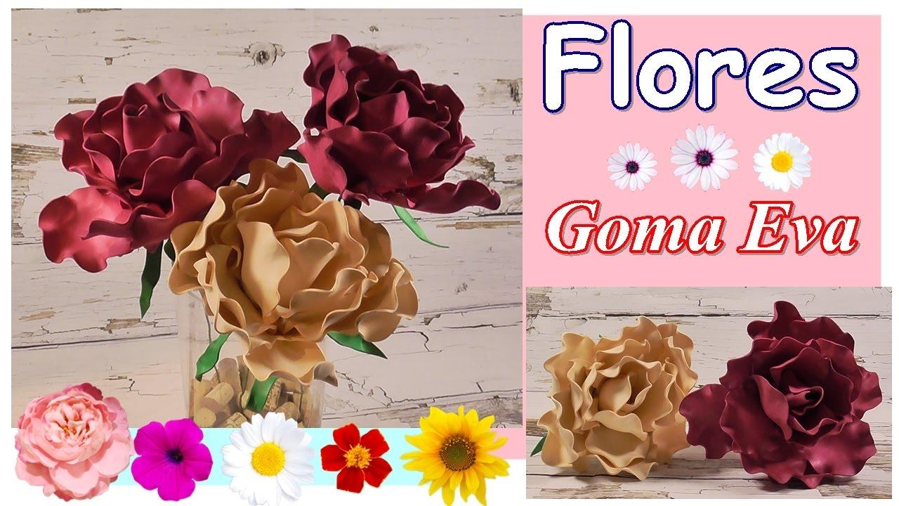 Cómo hacer flores grandes de goma eva o foamy con termoformado. Rápido y fácil