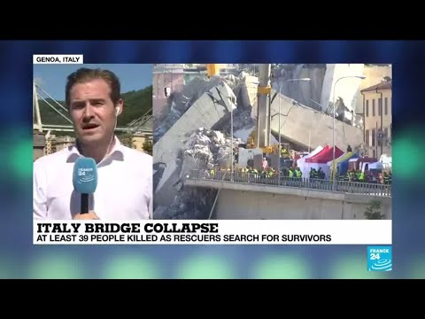 ITALY BRIDGE COLLAPSE: Gruesone search for survivors underway