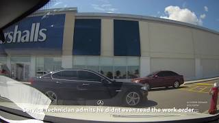 Mercedes Benz Canada Service Fraud  -  Mississauga S63 AMG Service Appointment Dashcam Video!