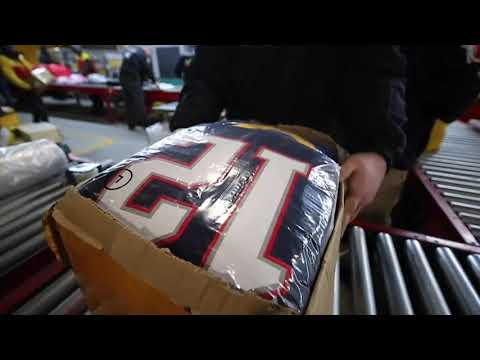 Days before the Super Bowl, ICE seizes large cache of fake National Football League gear. (Jan. 31)