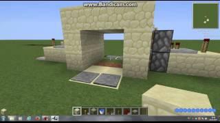 механизмы в майнкрафт 1.5.2 № 2 - механический вход. дверь 3х2. .2х2