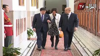 فيديو استقبال الرئيس تبون لرئيس وزراء إيطاليا بمقر رئاسة الجمهورية