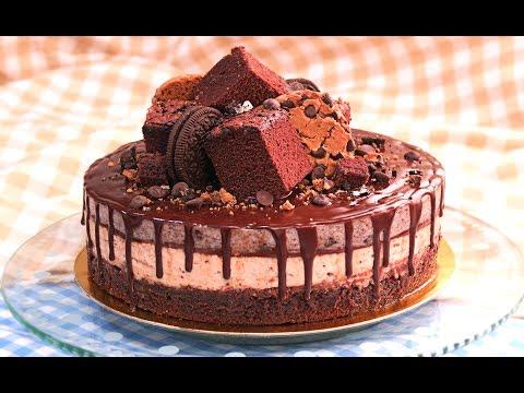 LA MEJOR TARTA DEL UNIVERSO   Oreo Nutella Brownie y Cookies!!
