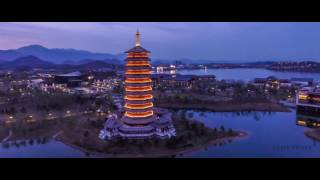 Video : China : YanQi Lake 雁栖湖 at dusk, HuaiRou, BeiJing
