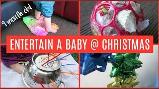 SIMPLE SENSORY ACTIVITIES FOR BABIES | DIY BABY ENTERTAINMENT