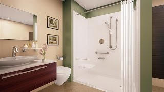 Ideas For Roll In Shower
