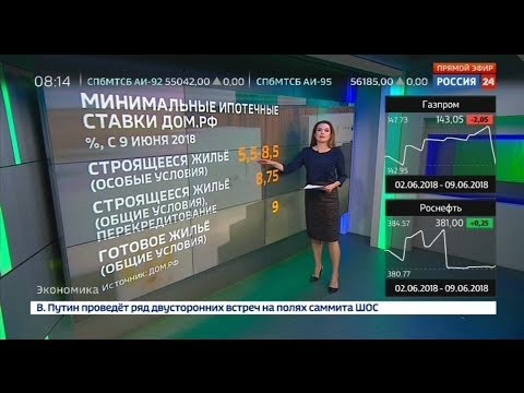 Россия 24: ДОМ.РФ снизил ставки по ипотеке