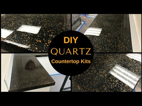 HOW TO: DIY Black Quartz Countertop Resurfacing Kits//Leggari's New Countertop Kit