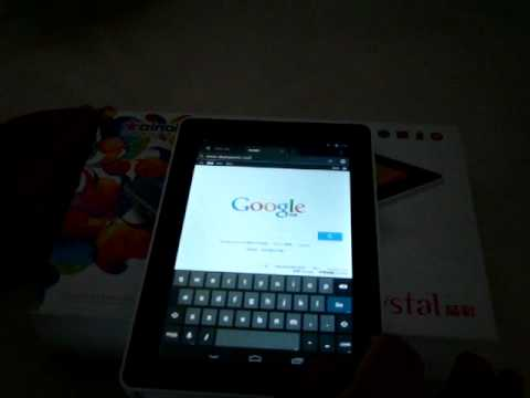 Ainol Novo 7 Crystal Tablet PC Review - Web Browsing