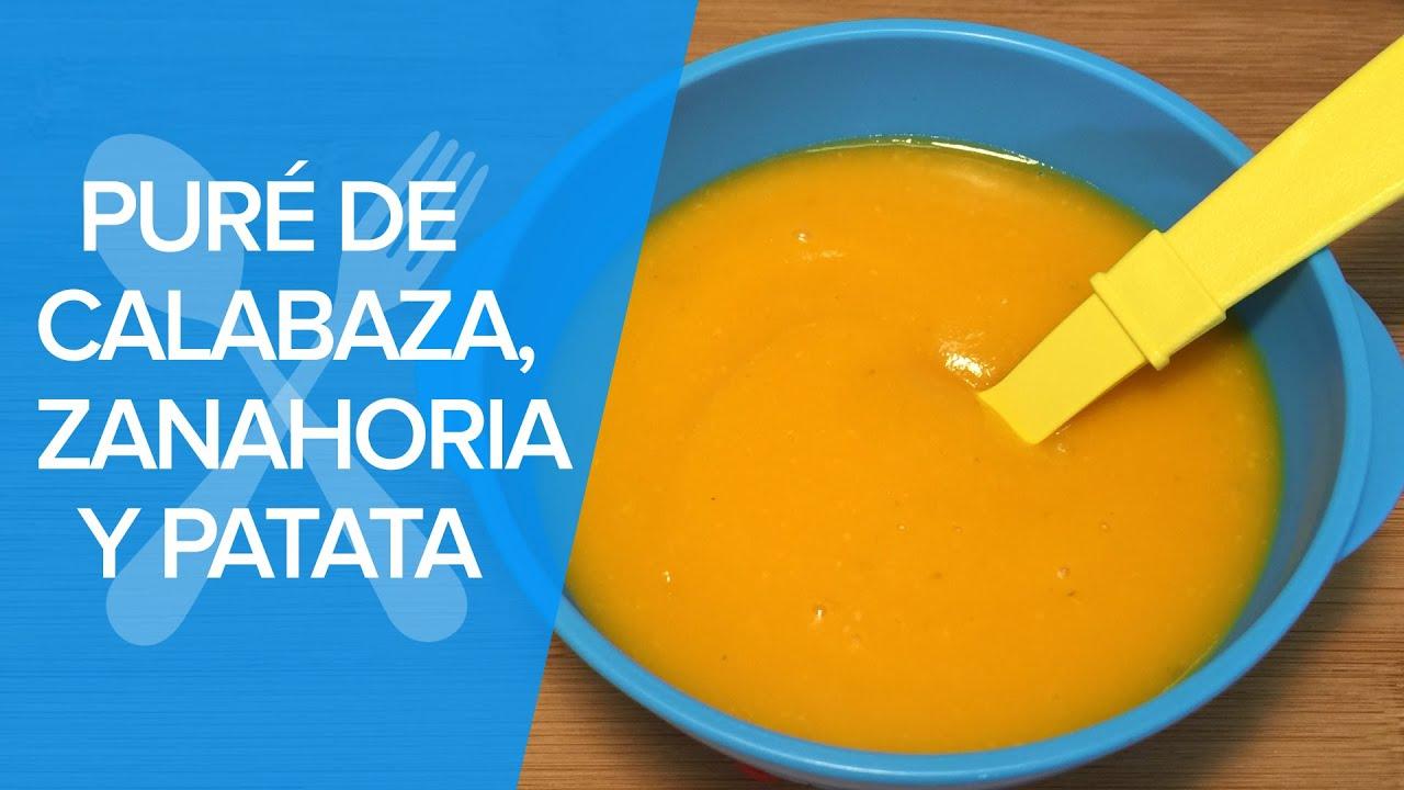 Puré o crema de calabaza, zanahoria y patata | Recetas para bebés