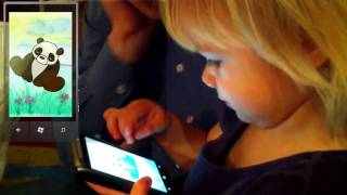 Sofia test drives Moo for Kids - Windows Phone 7 app for children