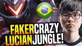 Faker Goes Crazy In Brazil! - SKT T1 Faker Crazy Picks Lucian Jungle! | SKT T1 Replays