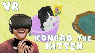 Konrad the Kitten - a virtual but real cat: Play with a VR kitten on HTC Vive