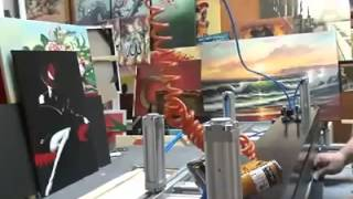 Gambar cover Kanvas Tablo Tuval Germe Makinesi - canvas stretching machine