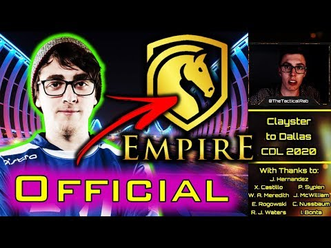 CLAYSTER Confirmed to Dallas Call of Duty!    CDL Rostermania News & Rumors    CoD: MW