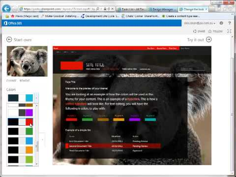 Changing the look and feel of SharePoint 2013