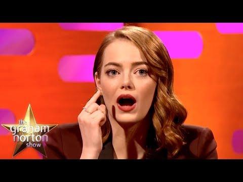 Emma Stone, její představení bez kontaktních čoček a dětský sen - The Graham Norton Show