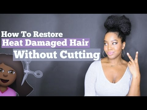 Video Restore Heat Damaged Hair Without Cutting It | Natural Hair