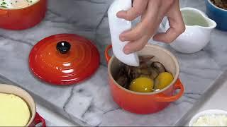 Le Creuset Stoneware (4) 15-oz Cocottes on QVC