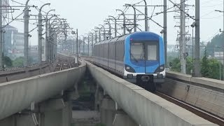 preview picture of video 'Shanghai Metro Line 8 - Yangpu Line 上海地铁 8号线'