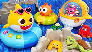 Pinkfong, having fun in the Water with the Shark Family! Dancing Baby Shark Melody Tube