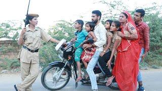 ओवरलोड गाड़ी का चालान कटा महिला पुलिस ने || Rajasthani Comedy Video ||