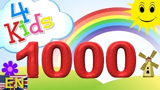 Gambar cover Numbers counting from 100 to 1000 for children in 100 steps. Counting hundred to thousand (english)