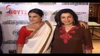 Vidya Balan Looks Gorgeous in Cream Saree at Indian Film Festival Melbourne