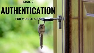Ionic 2 - Authentication