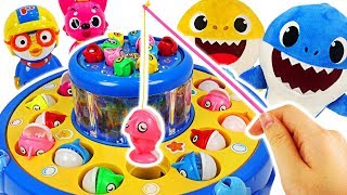 Pororo Moving Fishing Battle! Who is the Winner? #PinkyPopToy