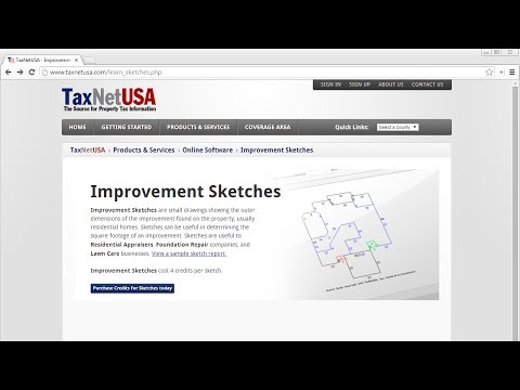 TaxNetUSA Improvement Sketches Overview: For Appraisal, Foundation, and Inspection Companies