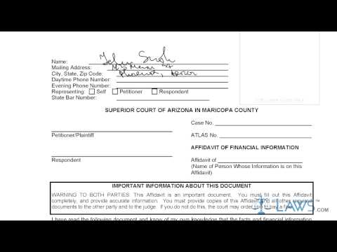 Arizona affidavit of financial information - Fill Out and