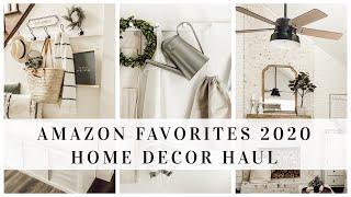 AMAZON FAVORITES 2020 | HOME ESSENTIALS | HOME DECOR HAUL | HOUSE + HOLM