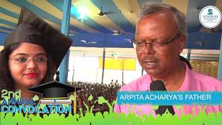 Adamas University | 2nd Annual Convocation | Graduate Diaries | ARPITA ACHARYA