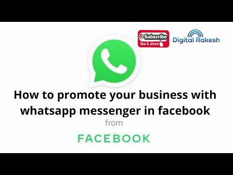 How to promote your business with whatsapp messenger in Facebook