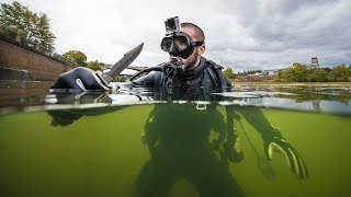 Found Phone and Drugs While Scuba Diving Urban River!! (underwater) | Jiggin' With Jordan