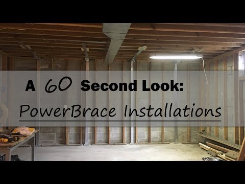 When it comes to bowing walls in your basement, PowerBraces are an effective and permanent solution! They're especially useful when property lines are tight and excavation on the exterior isn't an option.