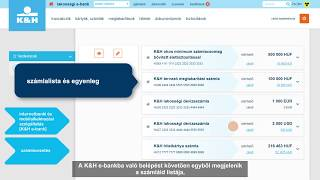 K&H e-bank – elektronikus utalás