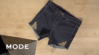 DIY Denim Shorts   Glam It Yourself ★ Mode.com
