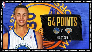 Steph Drains 11 Triples & 54 PTS At The Garden | #NBATogetherLive Classic Game