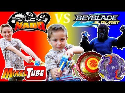 Jugamos nuestra Epic Battle con peonzas Infinity Nado y Beyblade
