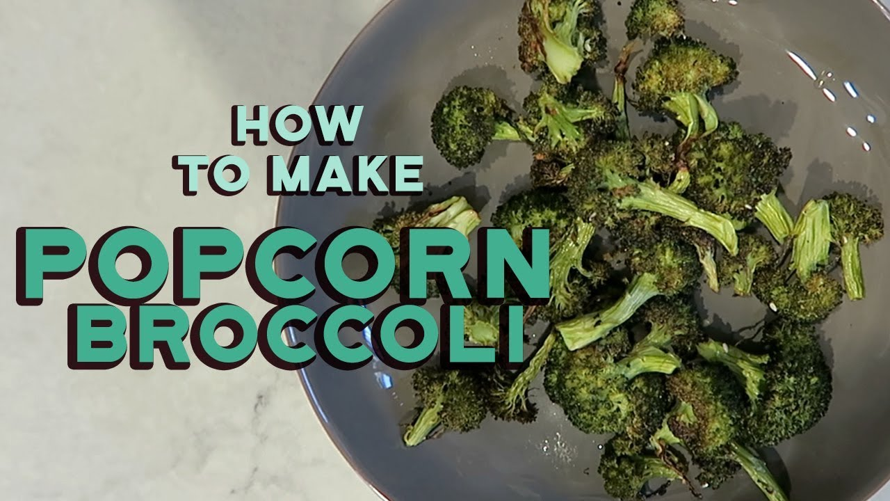 Homemade Healthy Broccoli Chips Recipe | Aimee Song