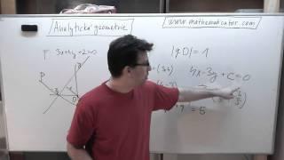 Analytická geometrie - kolmá přímka vzdálená od počátku 10. 4. 2014