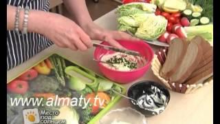 Рыбацкий салат с икрой минтая