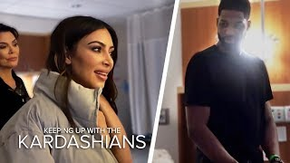 Kim And Tristan Thompson Come Face To Face In Khloe's Delivery Room   KUWTK   E!
