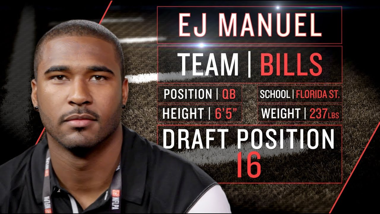 Bills' EJ Manuel on Doug Marrone's Playbook, OL gifts, sandwiches (2013 NFLPA Rookie Premiere) thumbnail