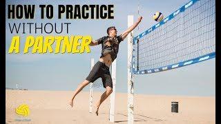 Solo Beach Volleyball Drills | Quadrant Pass Set Kill