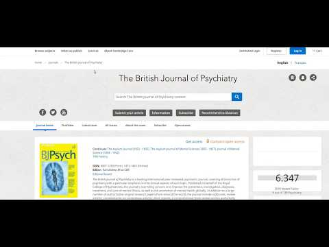 Guide for using Cambridge Core to access BJPsych titles