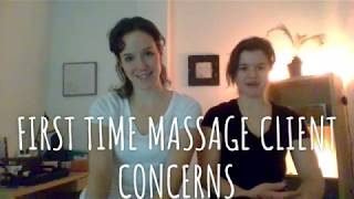 Do I have to take off ALL my clothes?!! And other first time massage therapy client concerns.