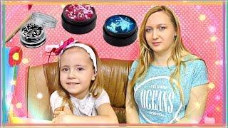 Маникюр с блестками в домашних условиях 💅 #Manicure TUTORIAL FOR KIDS ❀ Mom and daughter💗 MILASHKA